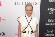 Malin Akerman Ruffle Blouse