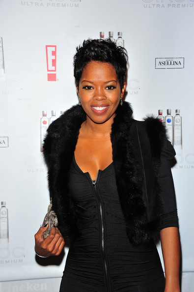 Malinda Williams Pixie [black hair,hairstyle,little black dress,fashion,outerwear,long hair,fashion design,fur,style,ciroc,malinda williams,gansevoort park avenue,new york city,the new year,party]