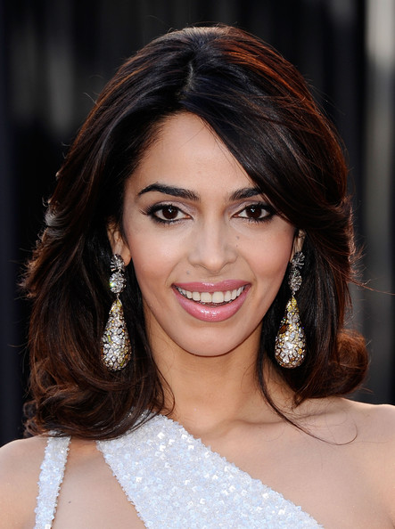 Mallika Sherawat Dangling Diamond Earrings