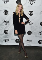 Jaime King looked fierce in a peekaboo LBD with gold buttons at the Mamas Making It Summit.