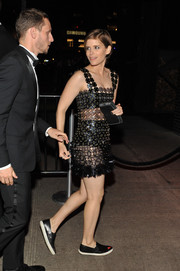 Kate Mara ditched the heels in favor of these comfy slip-ons for a Met Gala after-party.