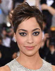 Cush Jumbo went punk with this fauxhawk at the 2016 Met Gala.