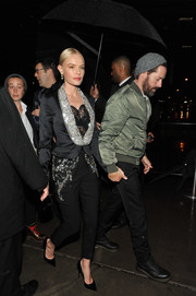 Kate Bosworth rocked a bedazzled pantsuit by Dolce & Gabbana at a Met Gala after-party.