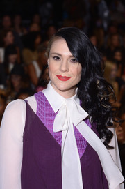 Kate Nash topped off her look with a sweet side-sweep when she attended the Mara Hoffman fashion show.