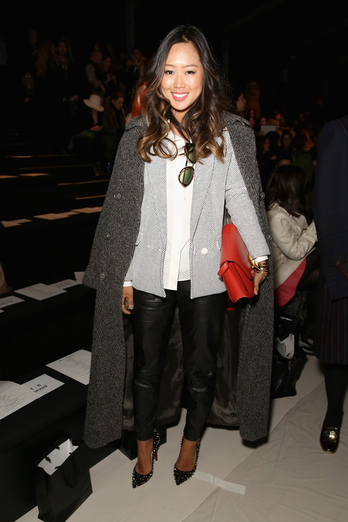 Aimee Song attends the Mara Hoffman fashion show during Mercedes-Benz Fashion Week Fall 2014 at The Salon at Lincoln Center on February 8, 2014 in New York City.