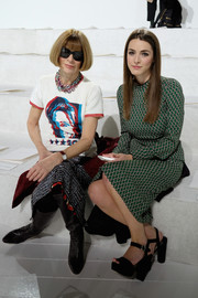 Anna Wintour sat front row at the Marc Jacobs fashion show rocking a Hillary Clinton T-shirt from the brand.