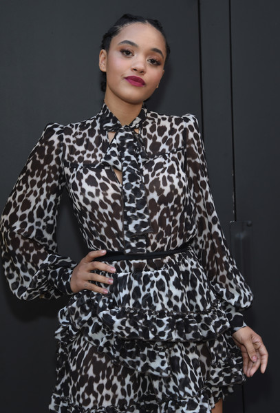 More Pics of Kiersey Clemons Platform Sandals (1 of 6) - Heels Lookbook - StyleBistro [marc jacobs,arrivals,kiersey clemons,clothing,fashion model,fashion,sleeve,dress,outerwear,neck,fashion design,photography,pattern,marc jacobs fall 2017 show,new york city,park avenue armory]
