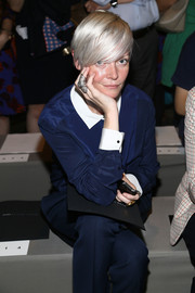 Kate Lanphear highlighted her look with a silver statement ring when she attended the Marc by Marc Jacobs fashion show.