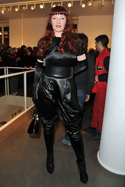 Betony Vernon looked like she was going for a dominatrix look in this black jumpsuit at the K-01 unveiling.