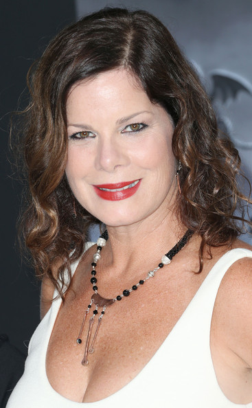 Marcia Gay Harden Multi Beaded Necklace [frankenweenie,hair,face,hairstyle,eyebrow,lip,chin,beauty,brown hair,blond,long hair,arrivals,marcia gay harden,california,hollywood,el capitan theatre,disney,premiere]