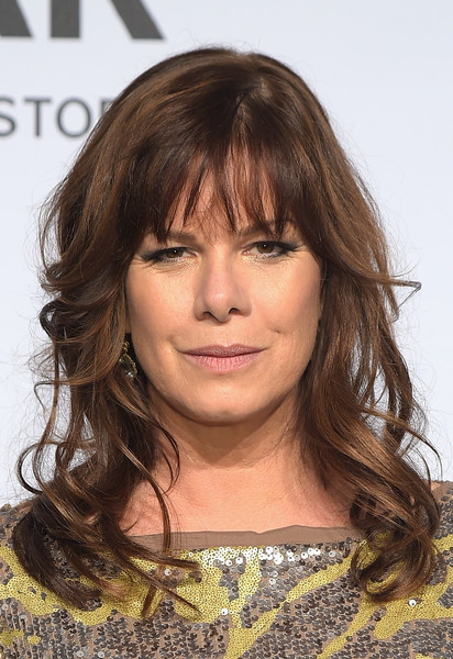 Marcia Gay Harden Long Wavy Cut with Bangs [hair,hairstyle,beauty,layered hair,eyebrow,bangs,chin,long hair,fashion model,forehead,arrivals,elliot grey,marcia gay harden,grace trevelyan grey,hair,hairstyle,beauty,new york city,amfar new york,amfar new york gala,marcia gay harden,grace trevelyan grey,fifty shades of grey,mia grey,elliot grey,mr. grey,actor,new york city,layered hair]