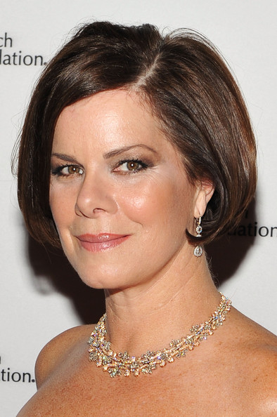 Marcia Gay Harden Bob [hair,face,eyebrow,hairstyle,chin,shoulder,skin,beauty,forehead,lip,arrivals,marcia gay harden,hot pink party,the waldorf,new york city,astoria,breast cancer research foundation]