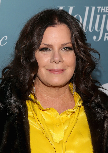 Marcia Gay Harden Medium Curls [hollywood reporter,hair,hairstyle,beauty,long hair,black hair,fashion model,brown hair,smile,layered hair,premiere,power 100 women in entertainment - red carpet,power 100 women in entertainment,marcia gay harden,california,los angeles,milk studios]