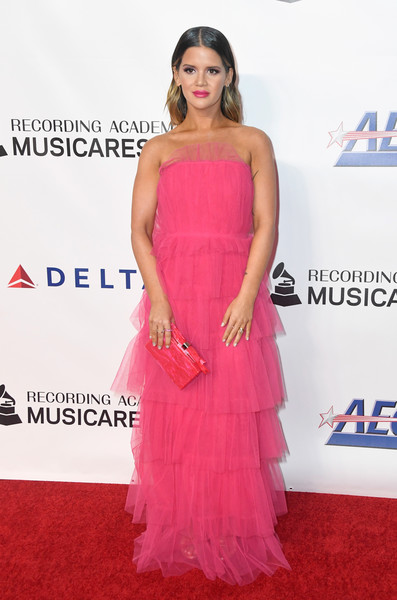 Maren Morris Strapless Dress []