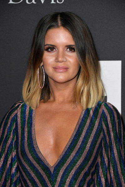 Maren Morris Mid-Length Bob [hair,face,hairstyle,eyebrow,blond,brown hair,beauty,long hair,layered hair,lip,clarence avant,arrivals,maren morris,grammy salute to industry icons,beverly hills,california,the beverly hilton hotel,pre-grammy gala]