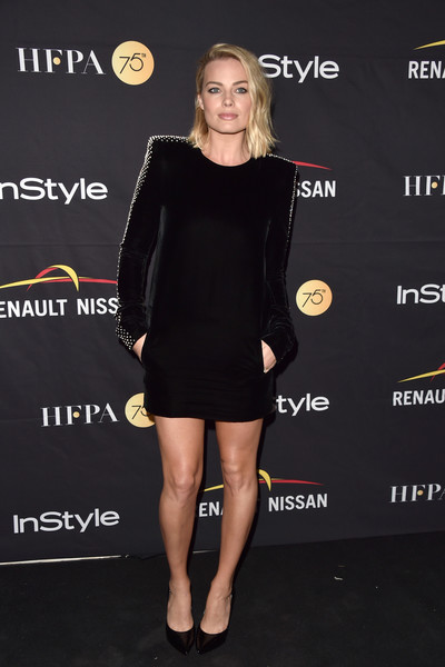 Margot Robbie Shoulder Pad Dress