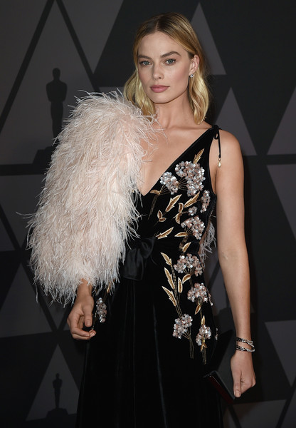 Margot Robbie Stole [hair,clothing,fashion model,fashion,dress,beauty,lady,hairstyle,blond,haute couture,margot robbie,hollywood highland center,california,the ray dolby ballroom,academy of motion picture arts and sciences,9th annual governors awards]