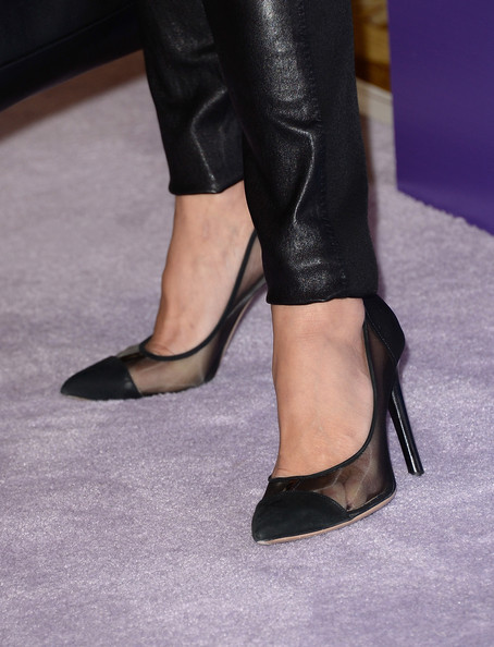 Maria Bello Pumps [footwear,high heels,leg,shoe,human leg,fashion,leather,haute couture,ankle,joint,maria bello,5th annual power of women,stars,power of women event,part,shoe detail,beverly wilshire four seasons hotel,variety,lifetime,event]