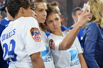 Maria Menounos Nina Dobrev DirecTV Celebrity Beach Bowl - Game