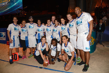 Maria Menounos Nina Dobrev DIRECTV'S Seventh Annual Celebrity Beach Bowl - Game