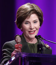 Laura Bush kept it neat and simple with a short bob hairstyle.