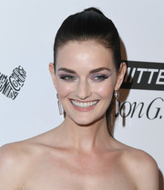 Lydia Hearst wore her hair in a brushed-back ponytail at the 2018 Marie Claire Fresh Faces event.
