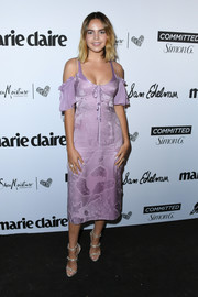 Bailee Madison was sexy and trendy in a lavender cold-shoulder dress by Cinq à Sept at the 2018 Marie Claire Fresh Faces event.