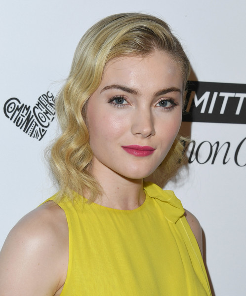 More Pics of Skyler Samuels Pumps (4 of 5) - Skyler Samuels Lookbook - StyleBistro [marie claires 5th annual fresh faces,skyler samuels,poppy,hair,face,blond,hairstyle,eyebrow,lip,yellow,beauty,chin,skin,california,los angeles,arrivals]