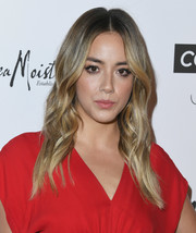 Chloe Bennet went boho with this center-parted, wavy hairstyle at the 2018 Marie Claire Fresh Faces event.