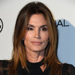 Hairstyles For Women With Fine Hair: Cindy Crawford's Center-Parted Layers