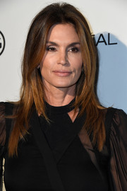 Cindy Crawford was stylishly coiffed with face-framing layers during Marie Claire's Image Maker Awards.
