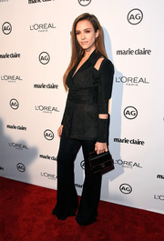 Jessica Alba's black Balmain cutout jacket and pants combo at the Image Maker Awards was a sassy take on the classic pantsuit!
