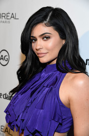 Kylie Jenner wore her dark locks with a side part and subtle waves during Marie Claire's Image Maker Awards.