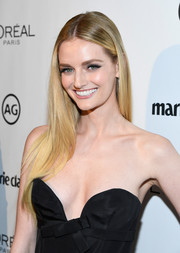 Lydia Hearst wore her long tresses loose in a pin-straight style during Marie Claire's Image Maker Awards.