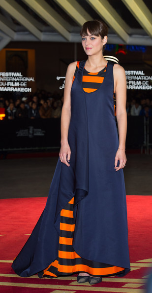 Marion Cotillard Evening Dress [waltz with monica photocall,fashion model,clothing,carpet,red carpet,dress,fashion,cobalt blue,electric blue,premiere,flooring,marion cotillard,waltz with monica premiere,french,marrakech,morocco,marrakech international film festival]