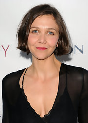 Maggie Gyllenhaal showed off her short bob while hitting the MarkBeauty launch in New York.