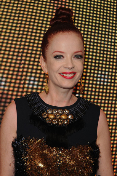 More Pics of Shirley Manson Twisted Bun (1 of 8) - Shirley Manson Lookbook - StyleBistro