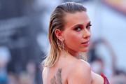Scarlett Johansson worked a wet-look hairstyle at the Venice Film Festival screening of 'Marriage Story.'