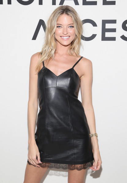 Martha Hunt Leather Dress