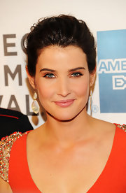 Cobie Smulders swept on sparkly metallic copper eyeshadow for 'The Avengers' premiere.