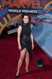 Ming-Na Wen vamped it up in an asymmetrical LBD by Mark Zunino at the premiere of 'Captain Marvel.'