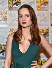 Brie Larson looked glam with her vintage waves at the Marvel Studios panel during Comic-Con.