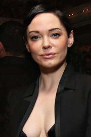 Rose McGowan opted for a neat short 'do when she attended the Casa Reale Fine Jewelry launch.