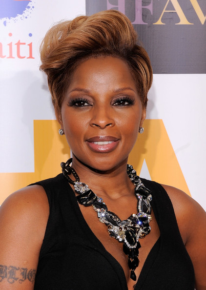 Mary J. Blige Black Statement Necklace