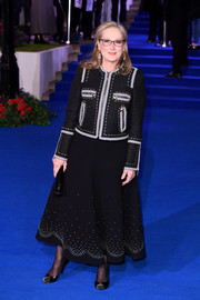 Meryl Streep coordinated her look with a pair of studded pumps.