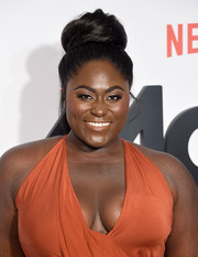 Danielle Brooks attended the premiere of 'Master of None' season 2 rocking a huge bun.