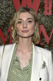 Elizabeth Debicki looked lovely with her wavy bob at the InStyle Max Mara Women in Film celebration.