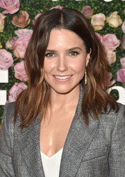Sophia Bush looked chic with her beachy waves at the 2017 Face of the Future event.