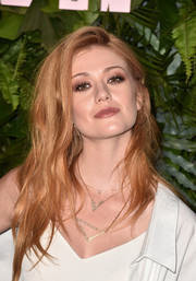 Katherine McNamara channeled her inner rock star with this messy hairstyle at the Max Mara WIF Face of the Future event.