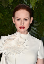Madelaine Petsch sported a super sleek bun at the Max Mara WIF Face of the Future event.